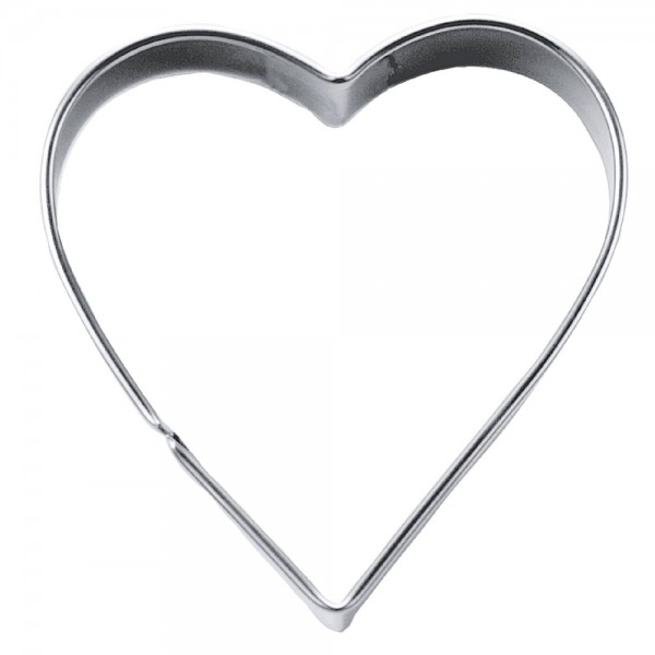 Ausstecher Herz ca. 6 cm / H 2 cm