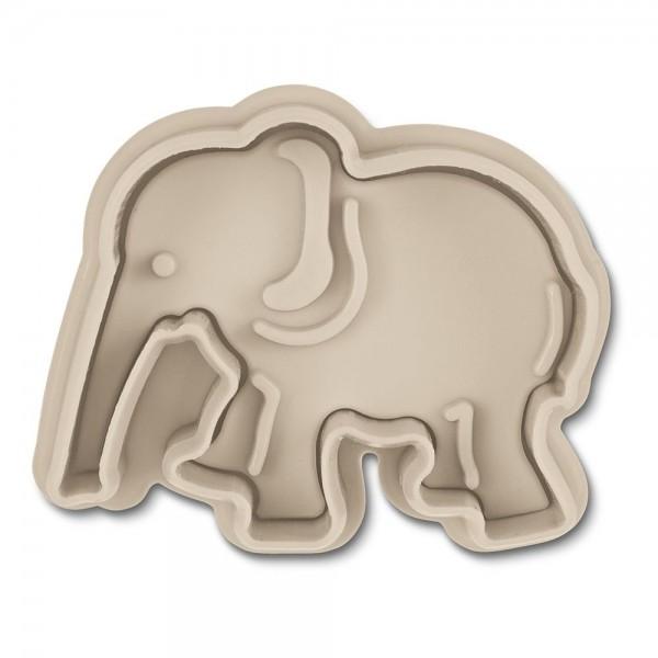 Prägeausstecher Elefant ca. 5,5 cm Grau