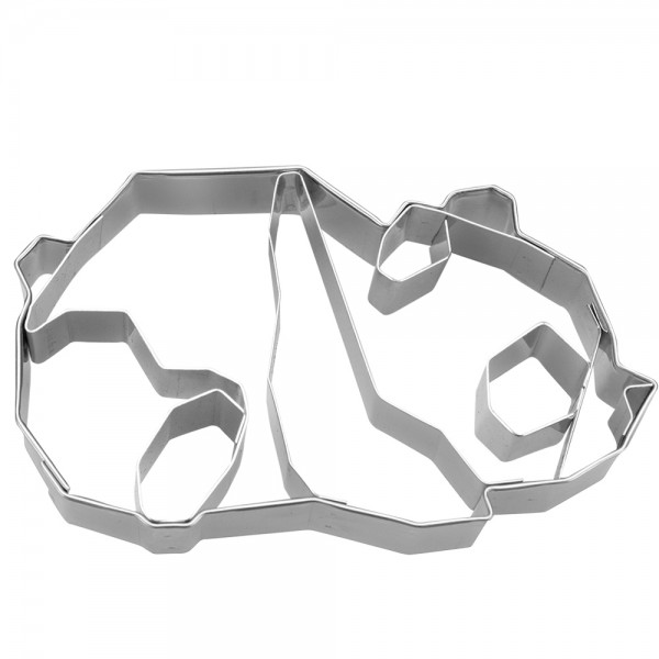 Prägeausstecher Geo Panda ca. 7,5 cm