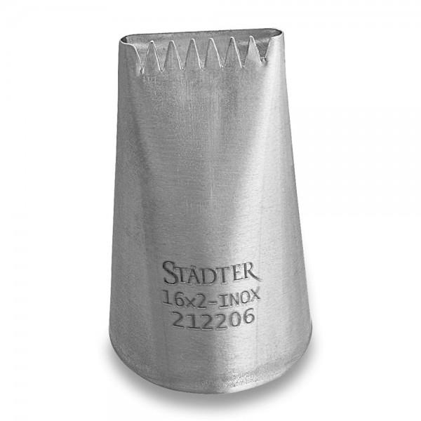 Tülle Sternbandtülle / Korbgeflechttülle 16 mm groß