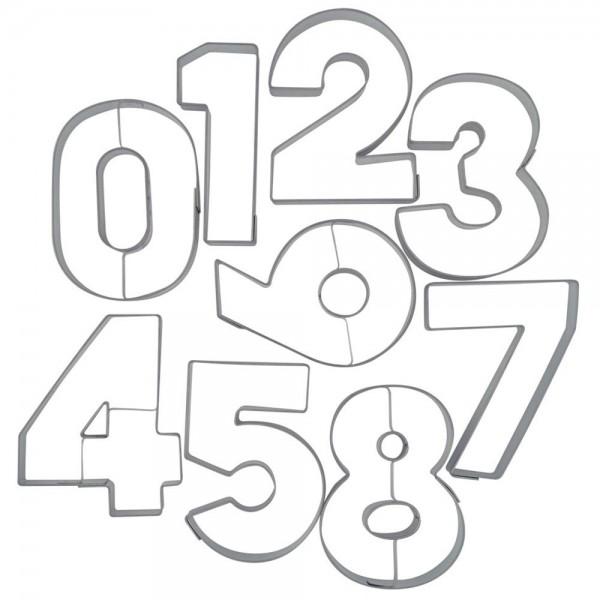 Ausstecher Zahlen ca. 6,5 cm Set, 9-teilig