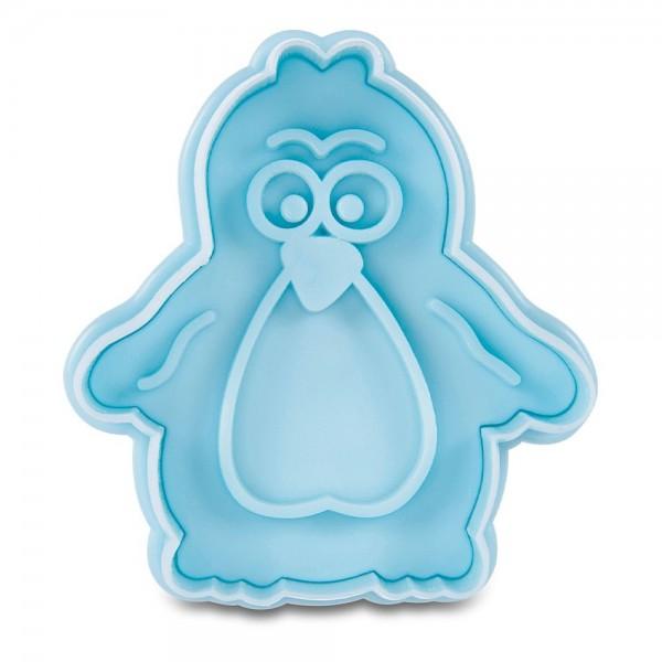 Prägeausstecher Pinguin ca. 6 cm Hellblau