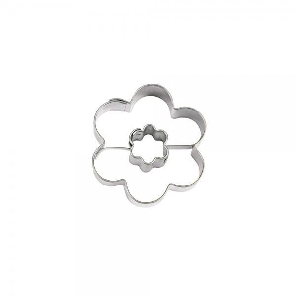 Ausstecher Blume in Blume ca. 4,5 cm