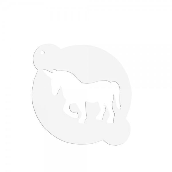 Schablone Einhorn ca. ø 15 cm Weiß