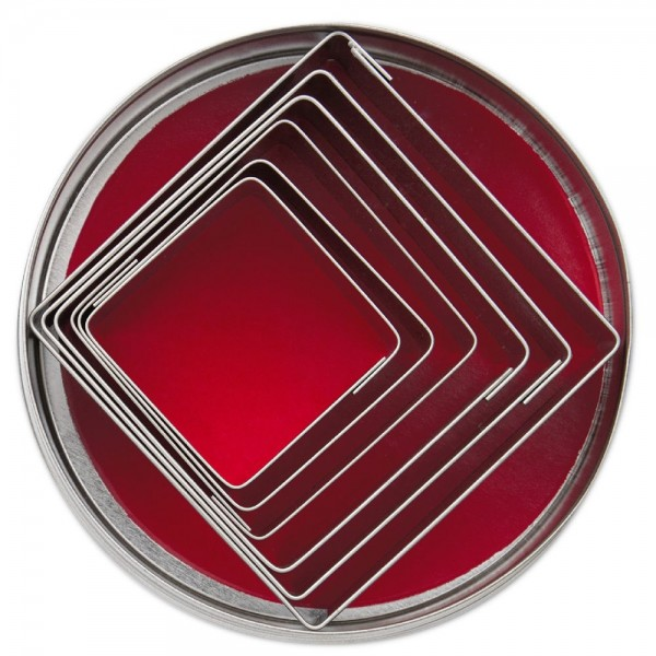 Ausstecher Quadrate ca. 5 –9,5 cm Set, 6-teilig