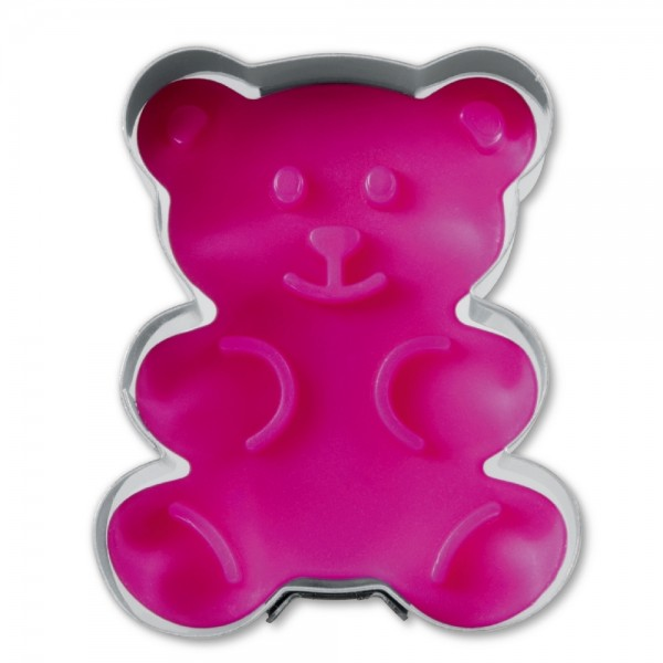 Prägeausstecher Bär ca. 5 cm Pink