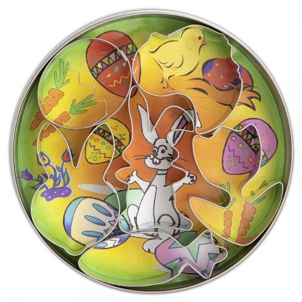 Ausstecher Ostern ca. 4,5–6,5 cm Set, 6-teilig