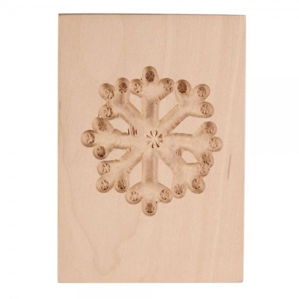 Holz-Prägeform Eiskristall ca. 6 x 8 cm
