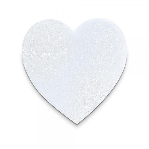 Kuchenplatte ca. ø 25 cm Weiß Herz