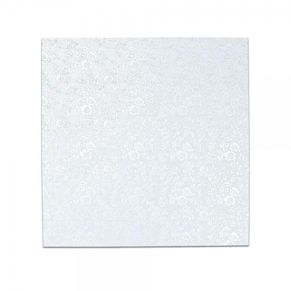 Kuchenplatte ca. 20 x 20 cm Weiß Quadrat