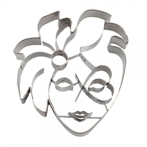 Prägeausstecher Venezianische Maske ca. 10 cm