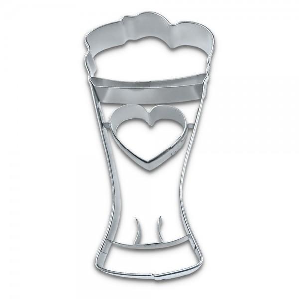 Prägeausstecher Weizenbierglas ca. 8,5 cm