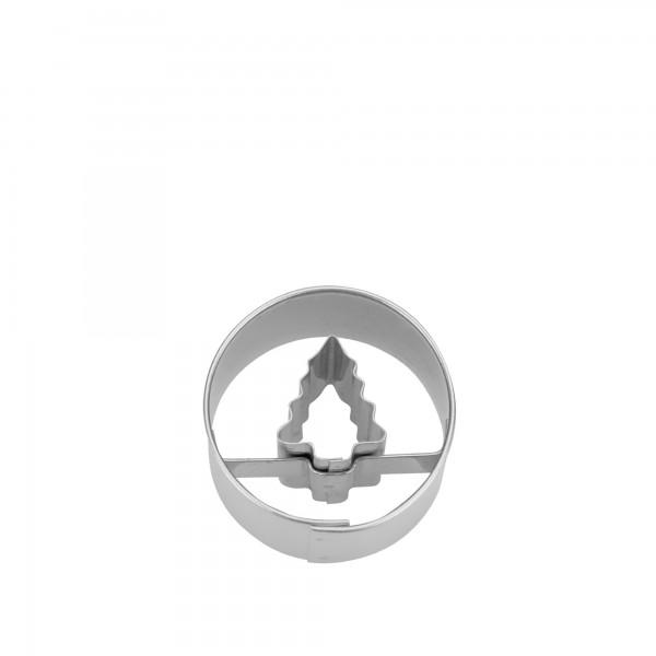 Ausstecher Mini 3cm Tannenbaum in Ring