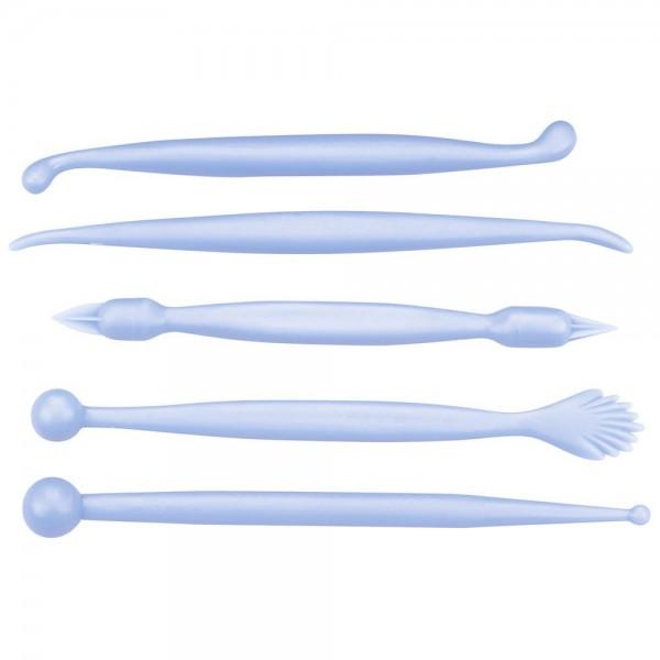 Modellierwerkzeug Modellierwerkzeuge ca. 13,5–15 cm Hellblau Set, 5-teilig