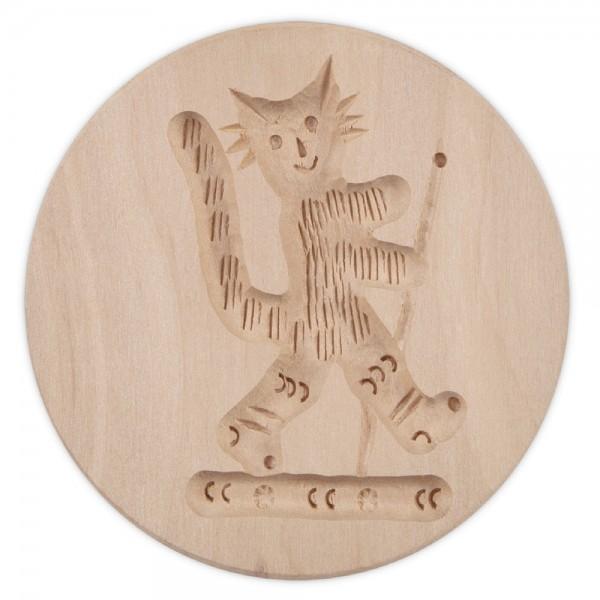 Holz-Prägeform Kater ca. ø 8 cm