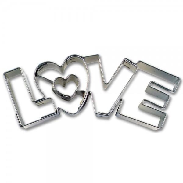 Prägeausstecher Love ca. 7,5 cm