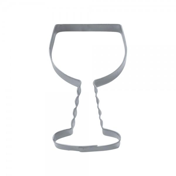 Ausstecher Weinglas Franken ca. 8,5 cm