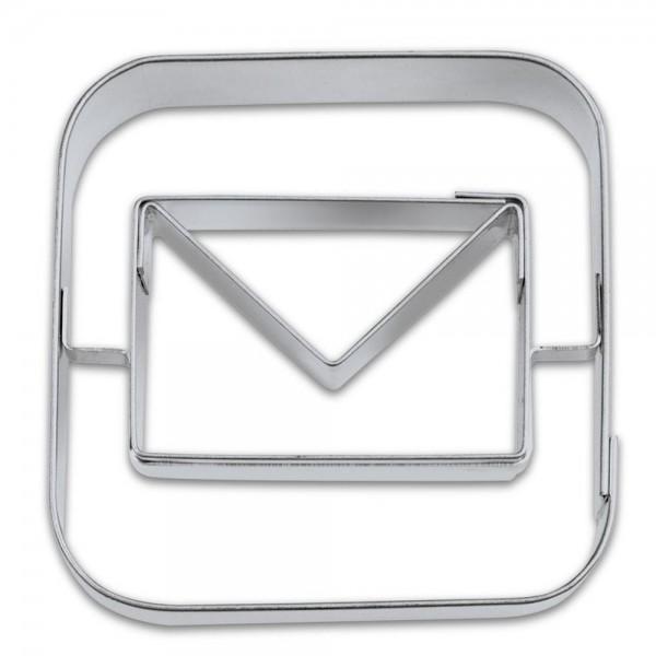 Prägeausstecher App-Cutter Mail ca. 6,5 cm