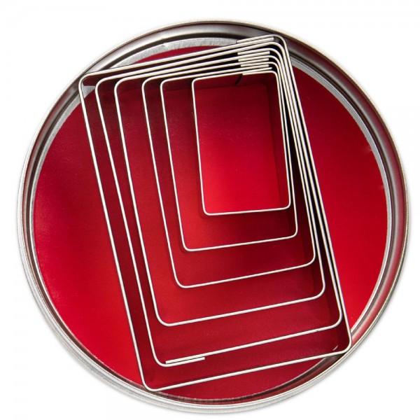 Ausstecher Rechtecke ca. 4–9,5 cm Set, 6-teilig