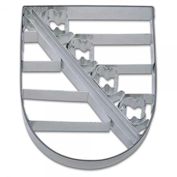 Prägeausstecher Sachsen Wappen ca. 9,5 cm