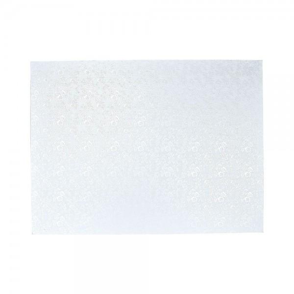Kuchenplatte ca. 40 x 30 cm Weiß Rechteck
