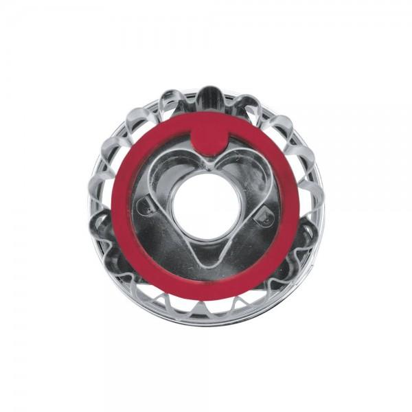 Ausstecher Linzer Herz ca. 4,8 cm zerlegbar