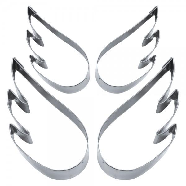Ausstecher Engelsflügel ca. 5,5–7 cm Set, 4-teilig