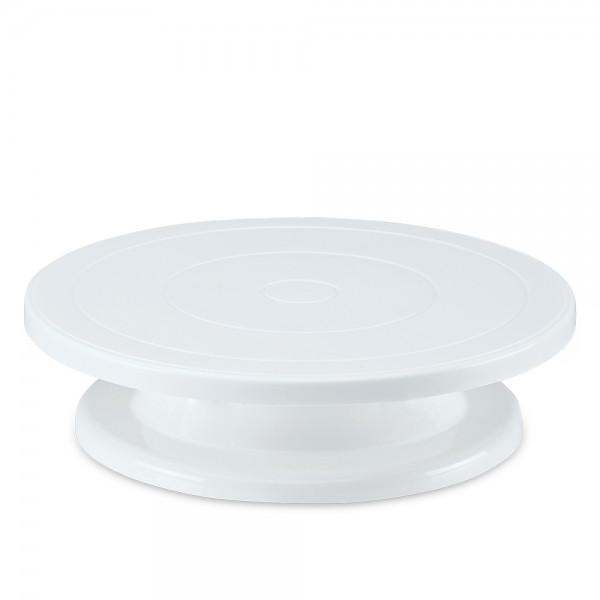 Tortenplatte ca. ø 27,5 cm / H 7 cm Weiß drehbar