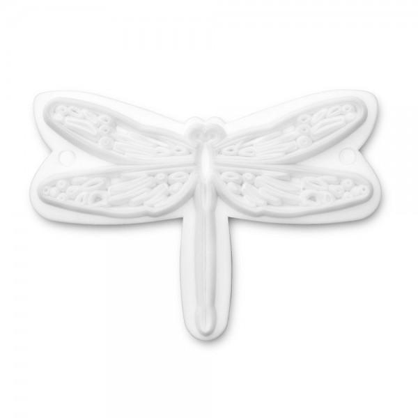 Prägestempel Libelle ca. 6,5 cm Weiß