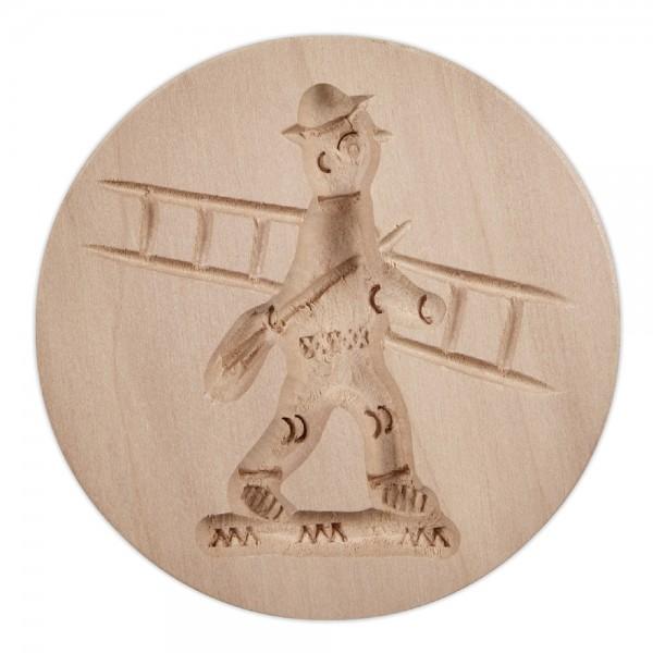 Holz-Prägeform Schornsteinfeger ca. ø 8 cm