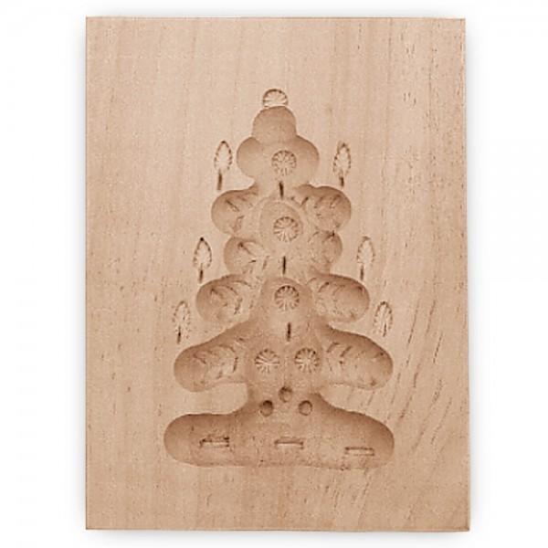 Holz-Prägeform Tannenbaum ca. 5,5 x 8 cm