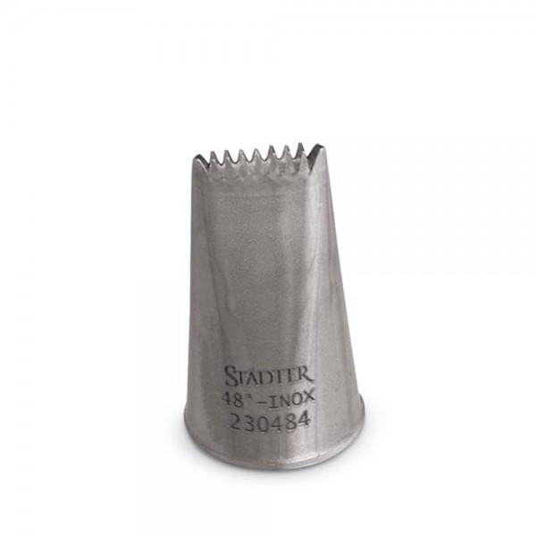 Tülle Sternbandtülle / Korbgeflechttülle 10 mm beidseiti klein