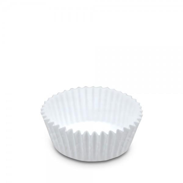 Papierbackform Weiß ø 50 x 32 mm Weiß Maxi 200 Stück