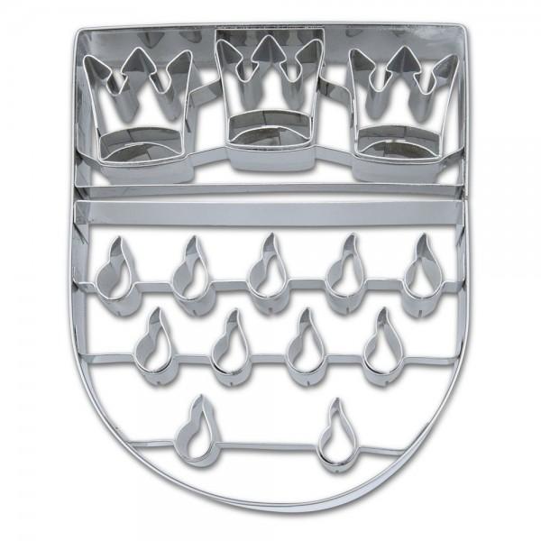 Prägeausstecher Köln Wappen ca. 11 cm