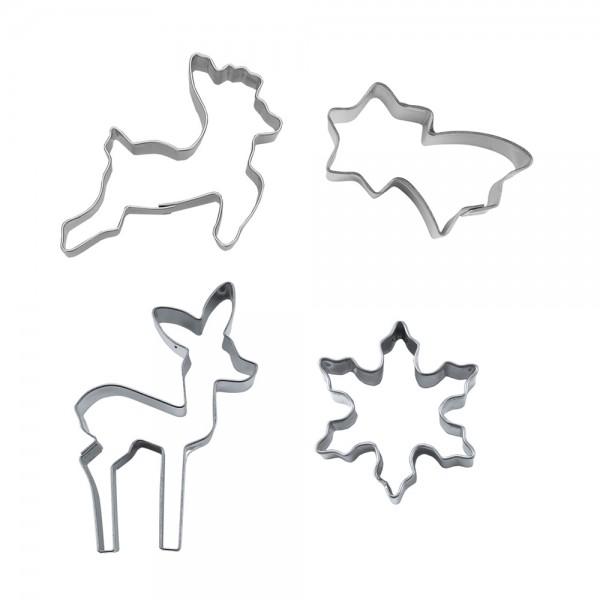 Ausstecher - Little christmas ca. 4–6 cm Set, 4-teilig