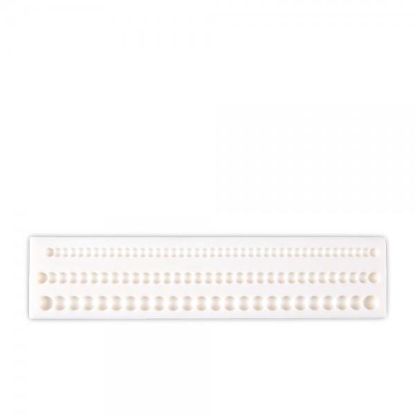 Prägeform  Perlenketten ca. 18 cm Weiß 3er-Reliefform