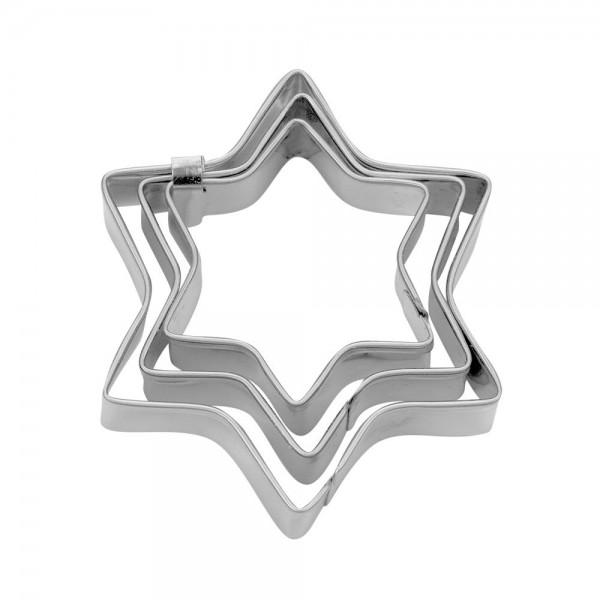 Ausstecher Stern ca. 4 / 5 / 6 cm Set, 3-teilig