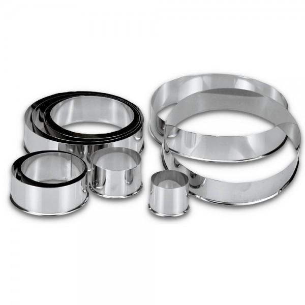 Ausstecherset Ringe / Kreise ca. 3–12 cm Set, 10-teilig
