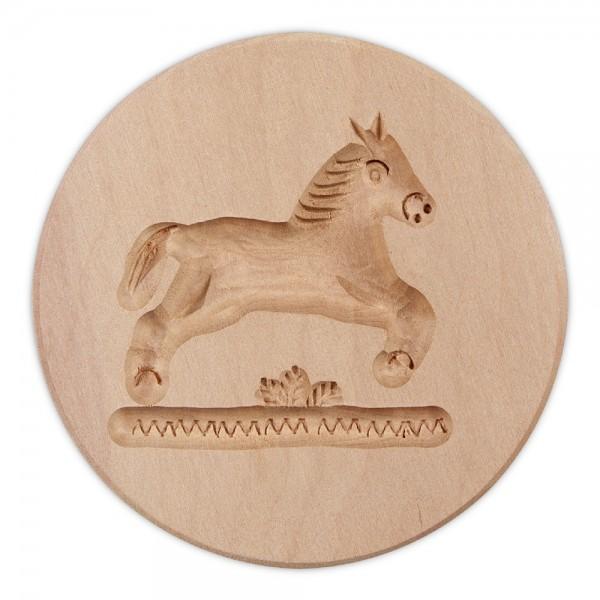 Holz-Prägeform Pferd ca. ø 8 cm