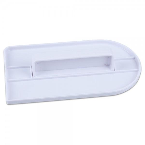 Modellierwerkzeug Fondant-Glätter ca. 8,5 x 15 cm Weiß
