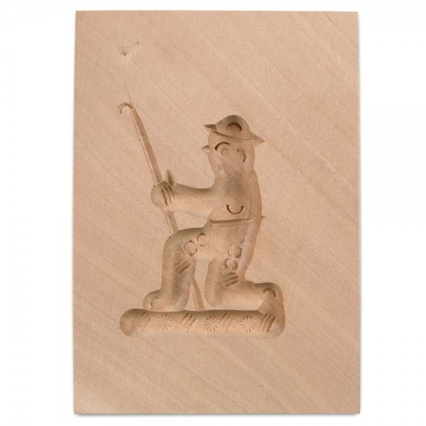 Holz-Prägeform Hirte ca. 5,5 x 8 cm