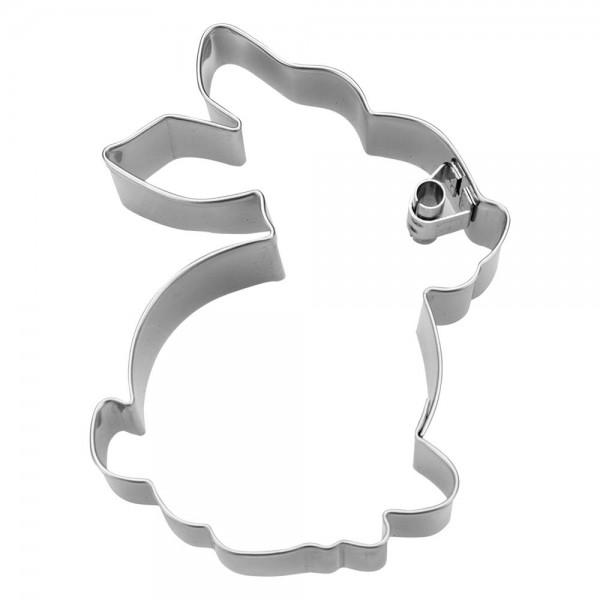 Prägeausstecher Hase ca. 7 cm sitzend