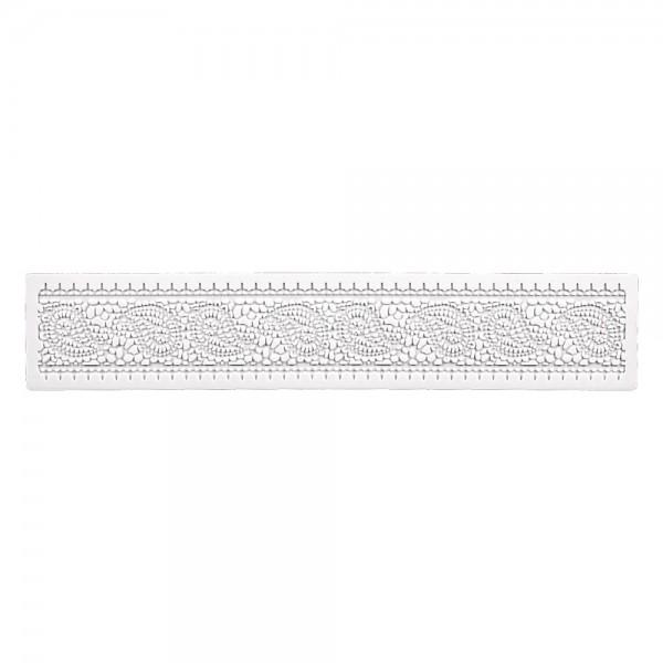 Bordürenmatte Retro ca. 39 x 7,5 cm Weiß Silikon