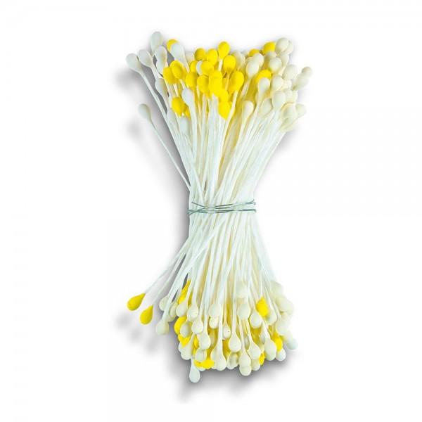 Staubblüten / Blütenpollen ca. 5 cm Gelb 144 Stück