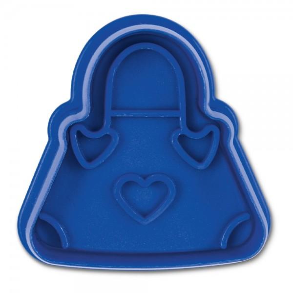 Prägeausstecher Handtasche ca. 5 cm Blau