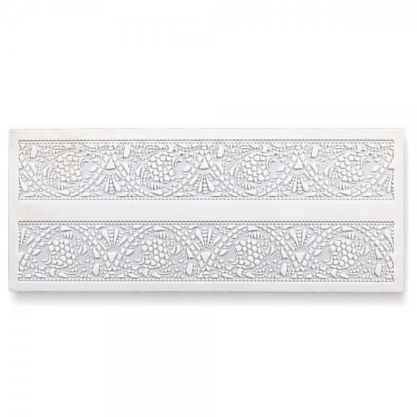 Bordürenmatte Jugendstil ca. 39,5 x 16,5 cm Weiß Silikon