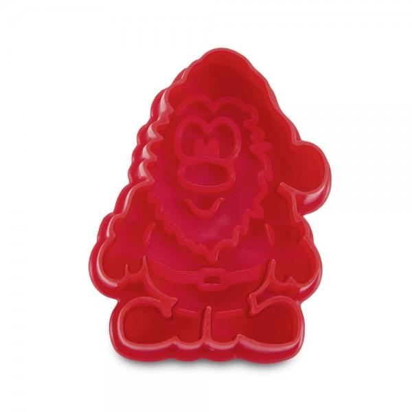 Prägeausstecher Nikolaus ca. 6 cm Rot