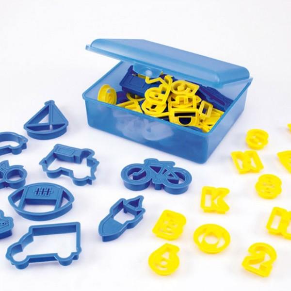 Prägeausstecher Kreative Kiste ca. 3–8 cm Set, 53-teilig