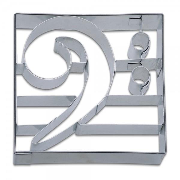 Prägeausstecher Bassschlüssel ca. 9 cm