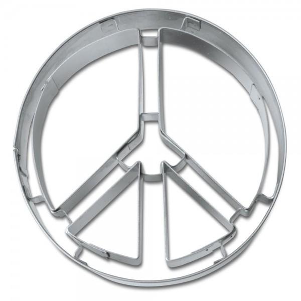 Prägeausstecher Peace-Zeichen ca. 6,5 cm
